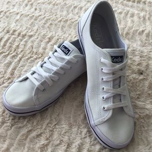 Keds White Sneakers, Size 8